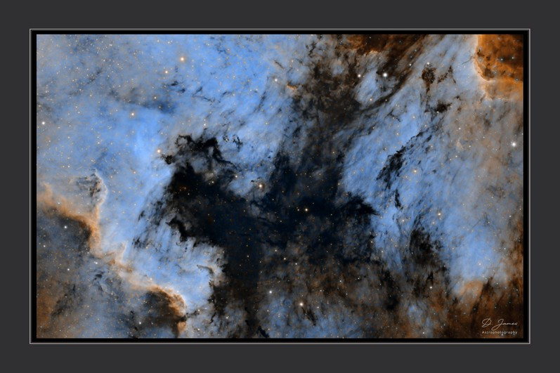 The North American Nebula, in the hubble palette