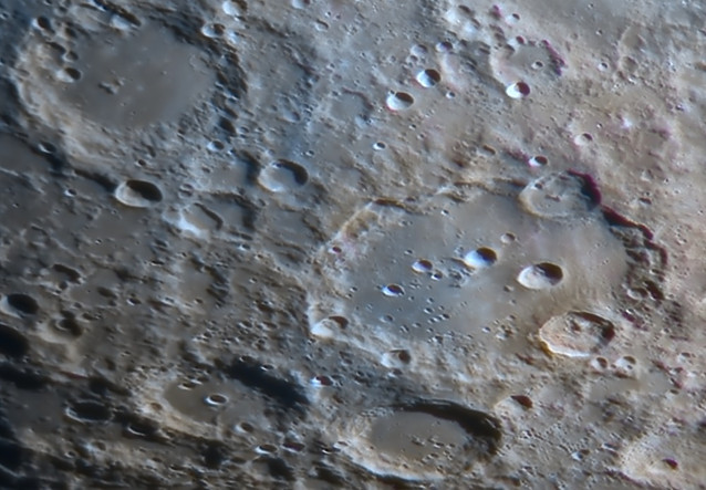 Clavius crater close up image