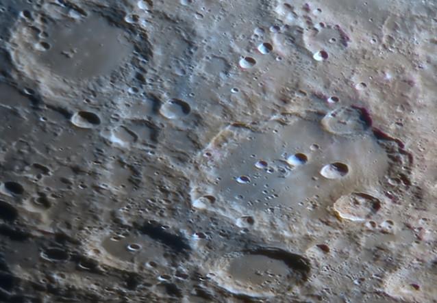 Clavius crater close up image