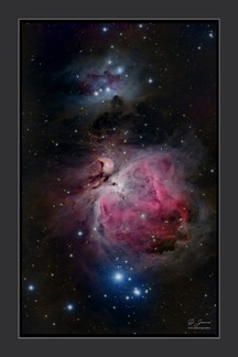 Orion Nebula poster. Space art. Fine art print