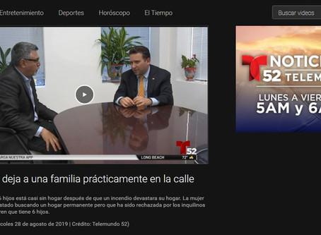 Apartment Fire Rental Assistance on Telemundo