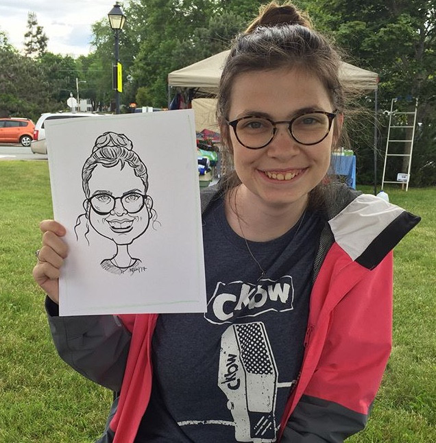 Caricature drawings at Staff party