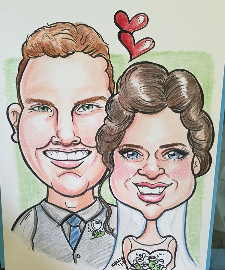 Caricatures for Valentines day halifax