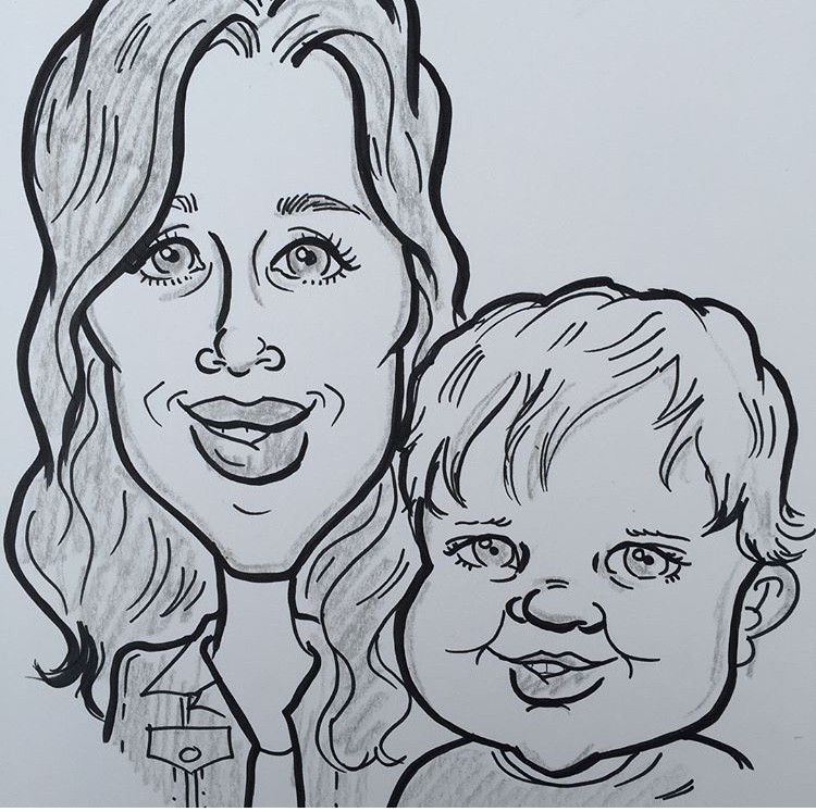 Caricature drawings for family events