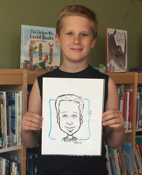 Caricatures for birthday parties