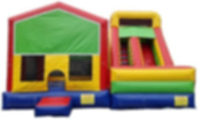 Fun house and slide. inflatable combo, HRM MASCOTS & iNFLATABLES