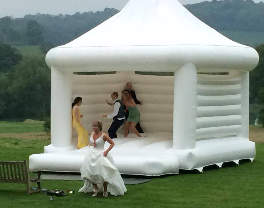 Wedding bouncy castle with out decorations
