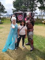 Elsa and Ironman- HRM MASCOTS & iNFLATABLES.jpeg