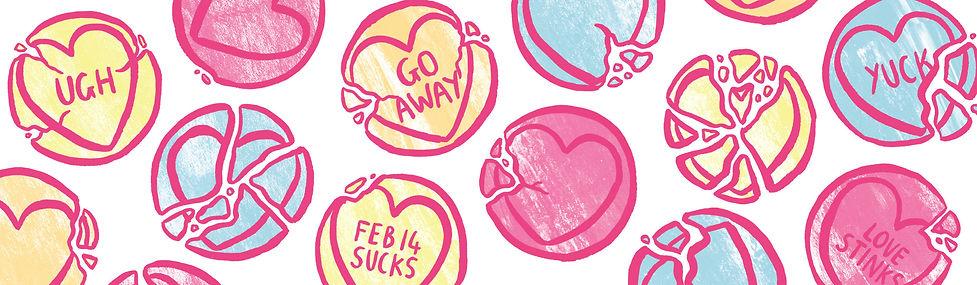 kate sharp nottingham illustrator valentine's day love hearts