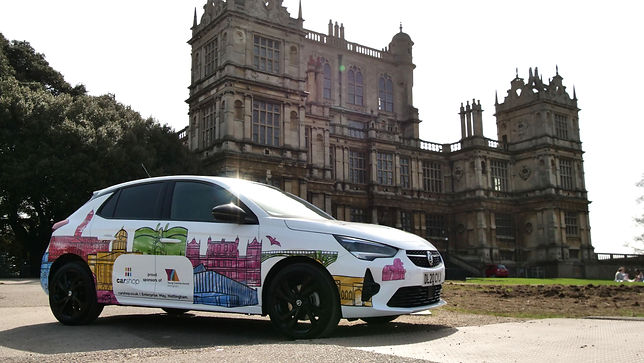 Kate Sharp Carshop Nottingham kate.r.sharp Car wrap illustrator Young Creative Awards Wollaton Hall