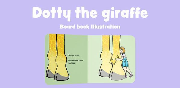 dotty the giraffe board book illustration kate.r.sharp kate sharp Nottingham Illustrator