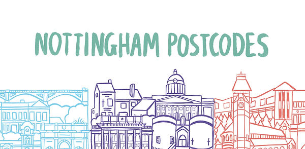 Nottingham Illustrator postcode project Kate Sharp kate.r.sharp Illustration