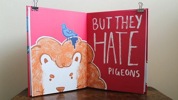 kate.r.sharp illustration kate sharp lions hate pigeons