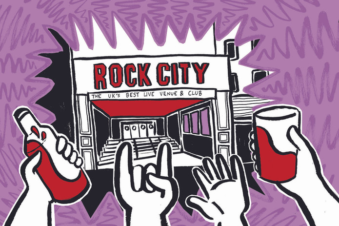 Rock City Nottingham Illustration Editorial LeftLion Kate Sharp kate.r.sharp