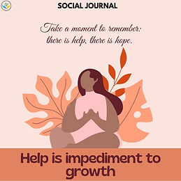 Help is an impediment to growth