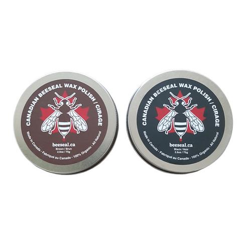 Canadian Beeseal - Pack de 2 Cirages, 1 Brun 75g  et 1 Noir 75g