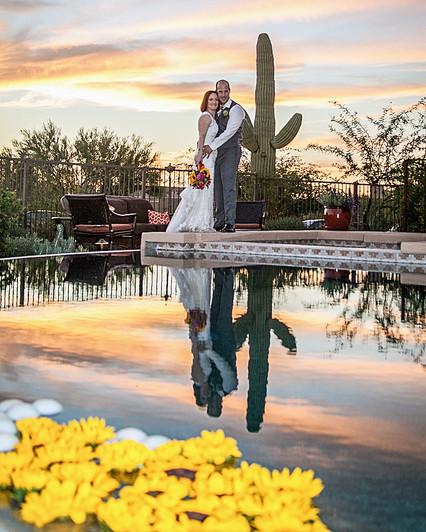 Tucson sunset wedding