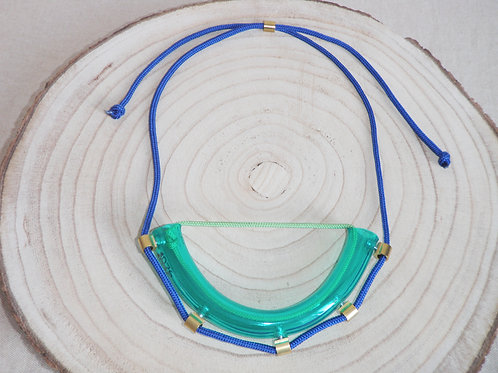 'WATER PIPE GREEN AND BLUE NECKLACE'