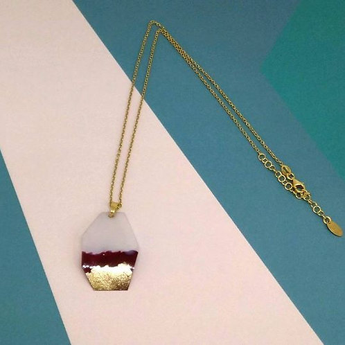'BURGUNDY SUNSET NECKLACE'
