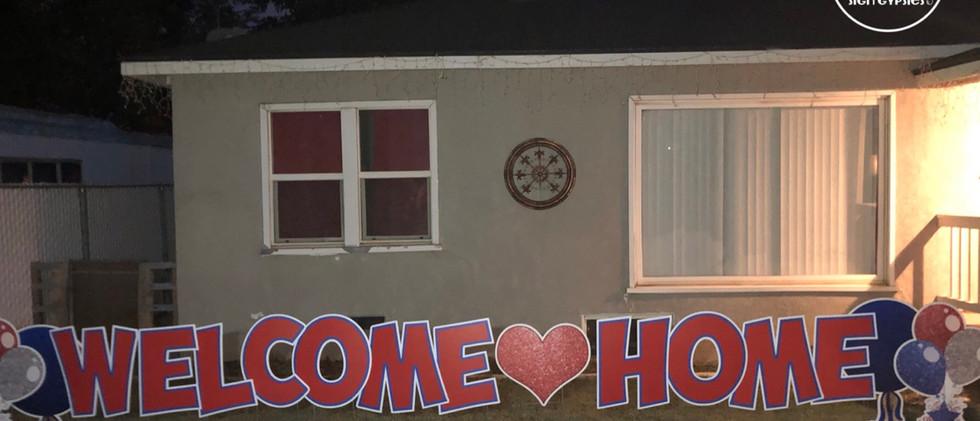 WELCOME HOME (NAME)