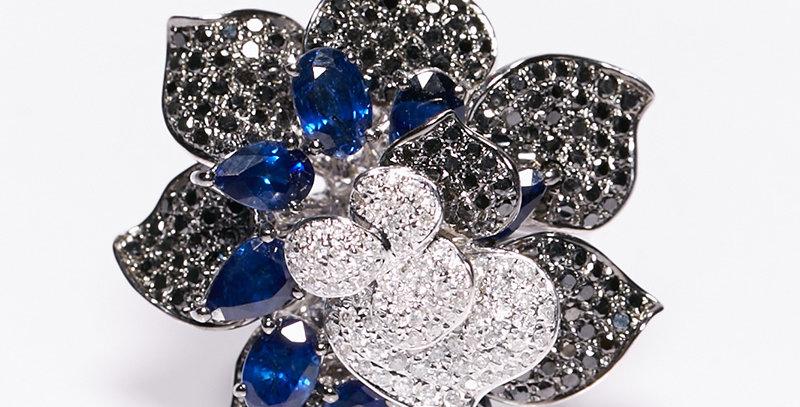 Blossom Ring (Black Diamond)