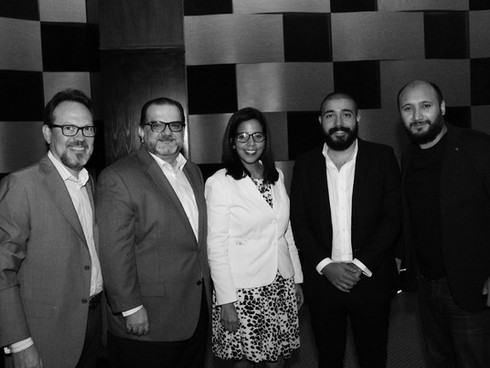 Kjell De Orr, Eduardo Valcarcel, Claudia Montás, Alejandro Matos y Michael Barón