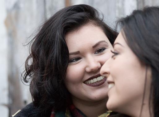 Courtney and Gina - Cardiff samesex couple portrait photography
