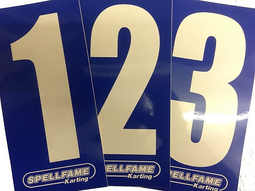 White Numbers on Blue Background Pack of 4