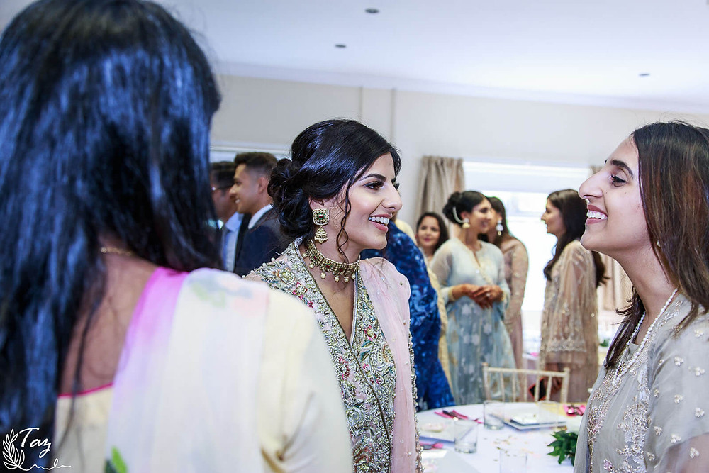 Salma and Sam Asian Nikkah photo, wedding photography by 'Weddings by Taz', South Wales