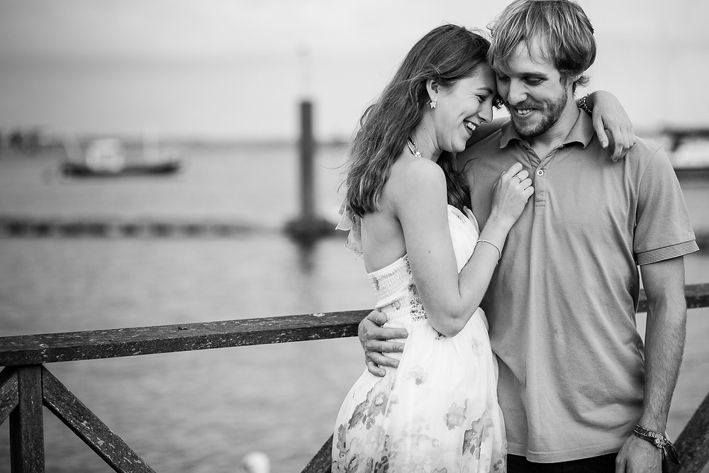 Danni & Ryan's Cardiff Bay couple photoshoot by Taz Rahman, wedding photographer
