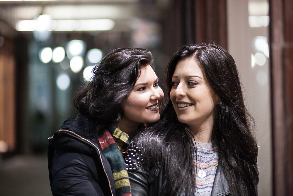 Courtney & Gina's same-sex couple photoshoot in Cardiff by Taz Rahman, wedding photographer