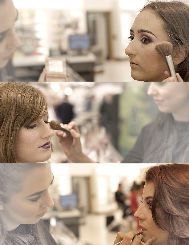 Beauty portraits in Cardiff for Urban Decay Cosmetics counter launch at John Lewis store, by photographer Taz Rahman