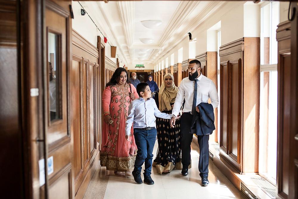 Kiran & Faisal's Asian Sikh Muslim wedding, Wandsworth Town Hall, London. Photos by Taz Rahman Photography