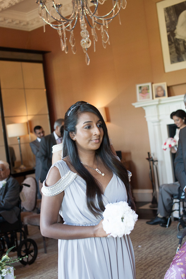 Bridesmaid, Wedding photography at The Grove, Watford by wedding photographer Taz Rahman