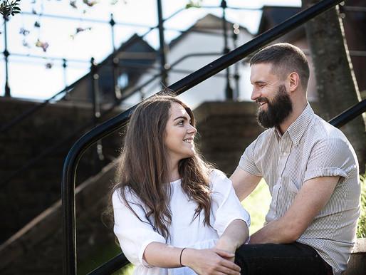 Amy & Mark pre-wedding photoshoot - Cardiff engagement photography