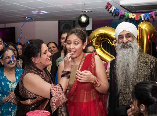 Harsimran's 21st birthday party - Asian family birthday photography