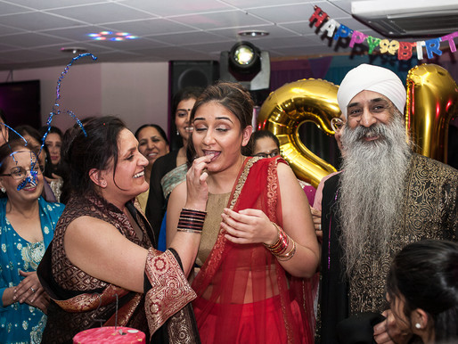 Harsimran's 21st birthday party - Asian family birthday photography