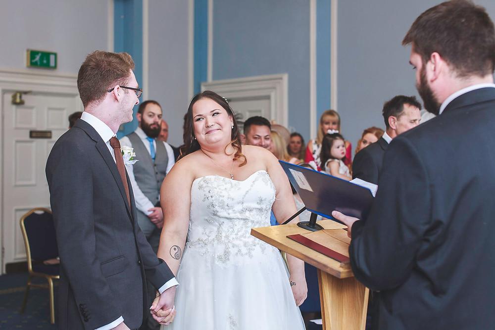 Abi & Mathew's wedding photo, South Wales | Wedding Photography at Cardiff City Hall and Holiday Inn Cardiff