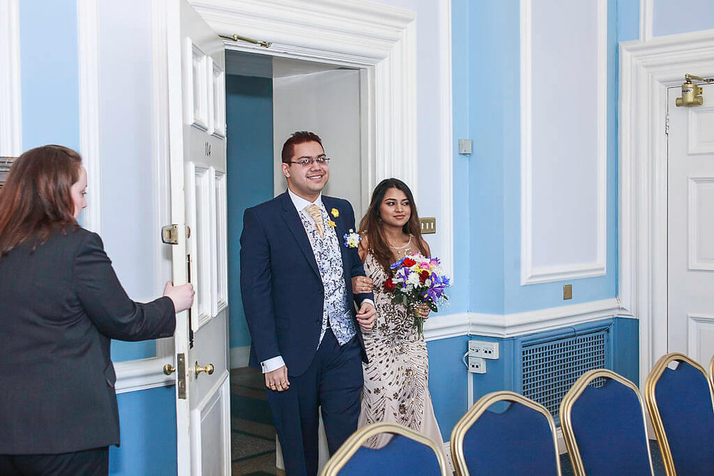 Rupa & Nil Cardiff City Hall wedding photo | Cardiff, South Wales wedding photography