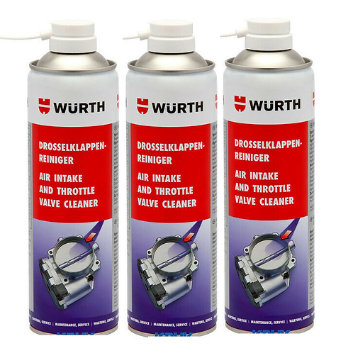 Wurth Carburettor and Air Intake Cleaner - Pack of 3