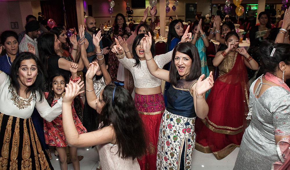 On the dancefloor at a Sikh Family Event Photography