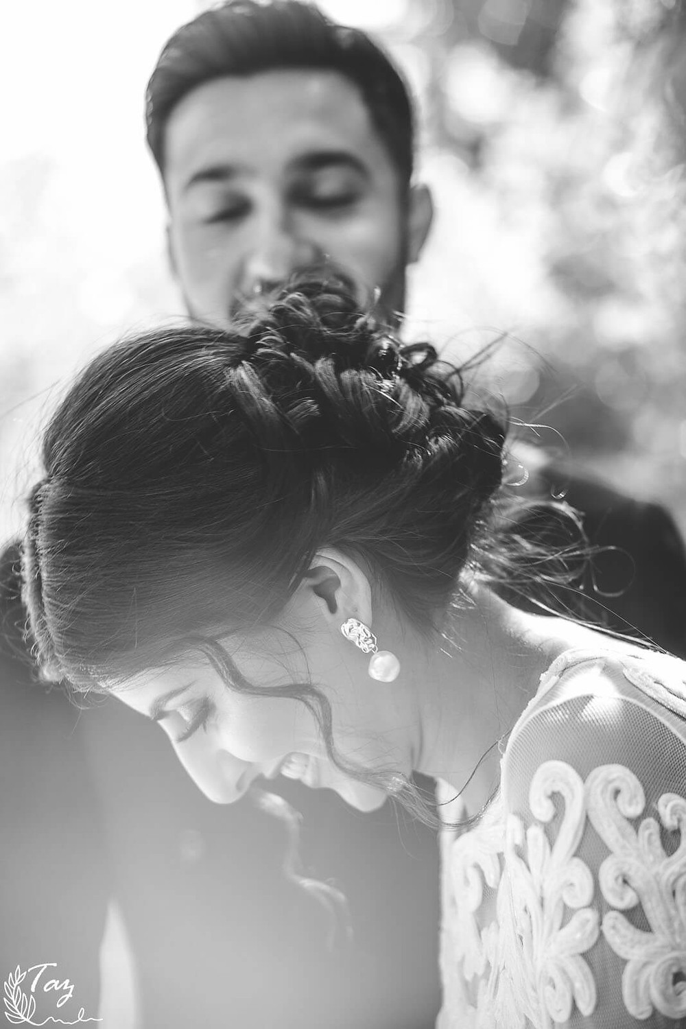 Salma and Sam bride & groom photo at Cardiff City Hall, wedding photography by 'Weddings by Taz', South Wales