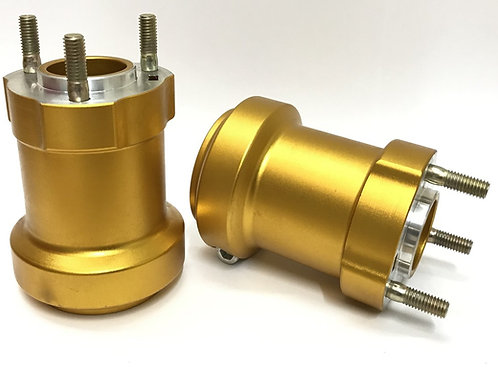 50mm axle gold rear hub