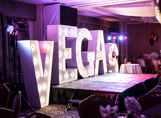 A Las Vegas themed Christmas party - Central London corporate event photography