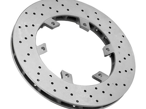 Cross Drilled & Ventilated 206mm x 16mmPattern Brake Disc