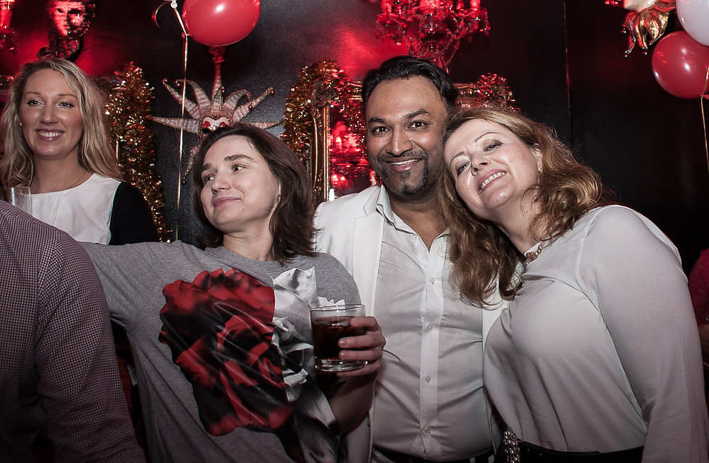 40th birthday party photography at The Aviary Bar, Oxford Circus, London