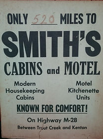 Old Smith's Cabins sign