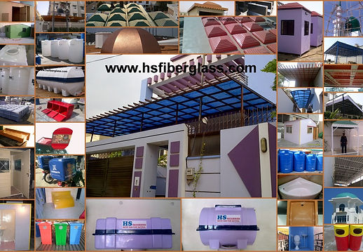 HS Fiberglass Karachi Pakistan Fiberglass Shade Roof Canopy Dome Shed Fiberglass Sheet Fiberglass Water Tank Window Shade Awning Fiberglass Portable Room Cabin Kiosk Guard Room Fiberglass Bin Boxes Shower Tub Tray Planters Doors Fiberglass and Plastic Product