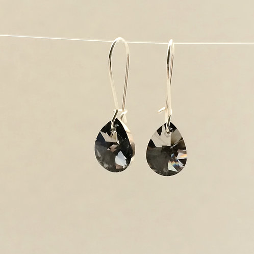 Grey Swarovski Earrings