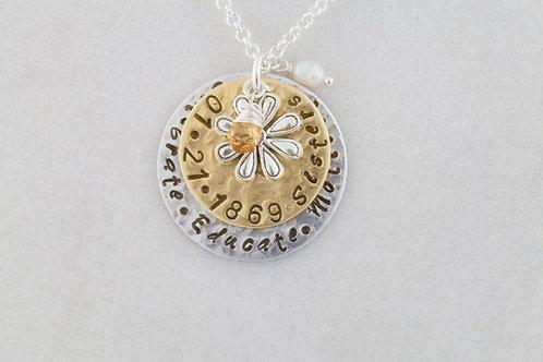 P.E.O. Sister Necklace